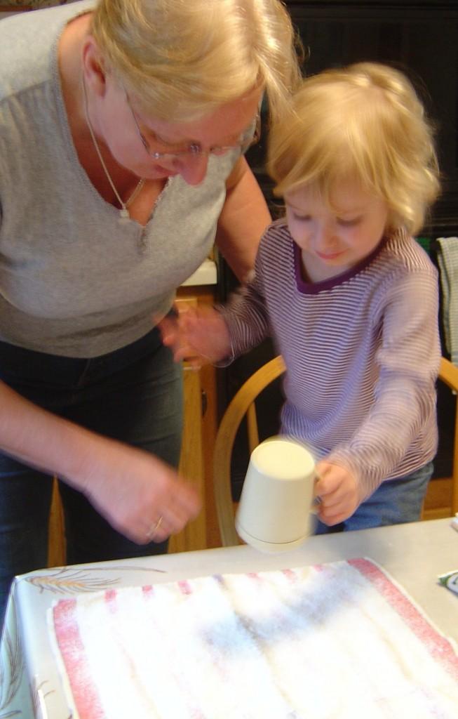 Eilidh helping to bake