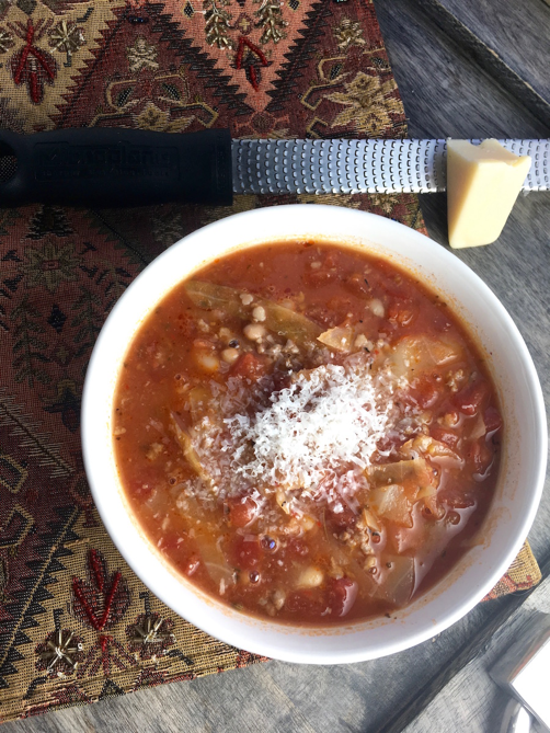 Spicy White Bean and Cabbage Soup