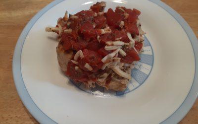 Easy Grilled Chicken Bruschetta