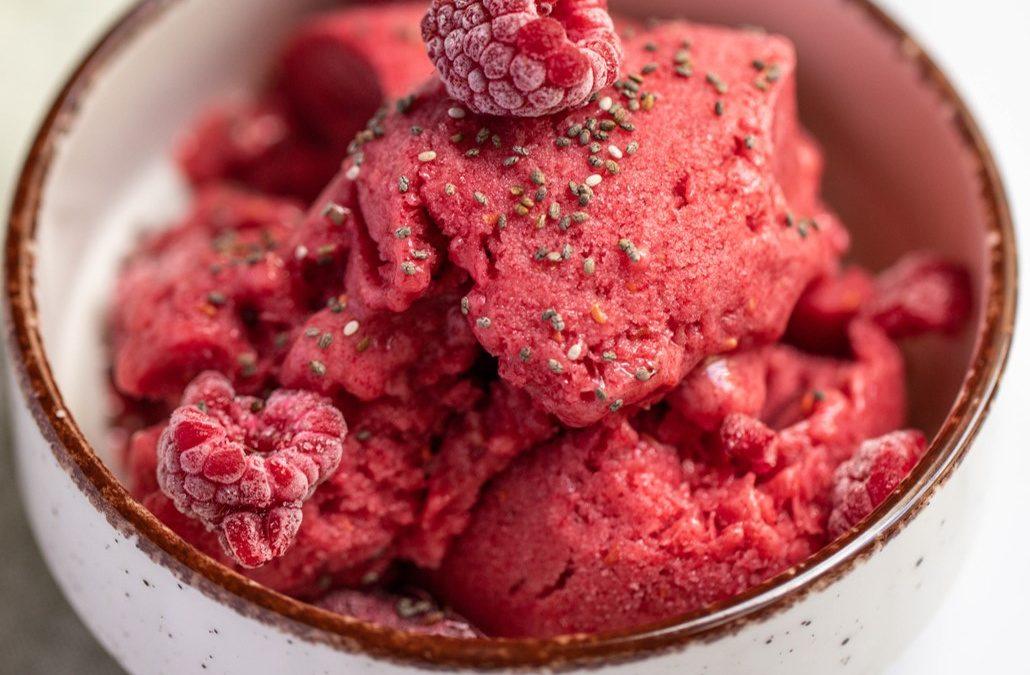 Gluten-Free, Dairy-Free Raspberry Nice Cream